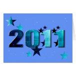 logotipo del azul de 2011 estrellas tarjeta