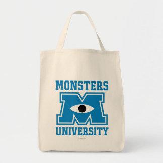 Logotipo del azul de la universidad de los bolsa tela para la compra