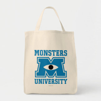 Logotipo del azul de la universidad de los monstru bolsa
