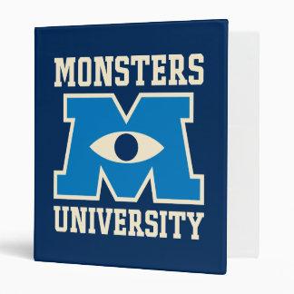 Logotipo del azul de la universidad de los monstru