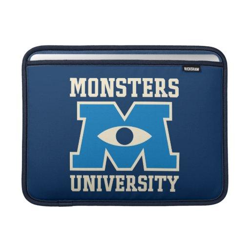 Logotipo del azul de la universidad de los monstru fundas macbook air