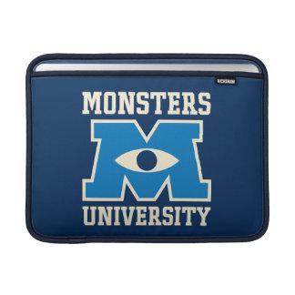 Logotipo del azul de la universidad de los monstru funda para macbook air