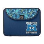 Logotipo del azul de la universidad de los monstru funda para macbooks