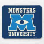 Logotipo del azul de la universidad de los monstru alfombrilla de ratón