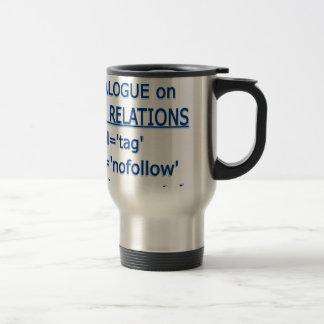 Logotipo del azul de las relaciones del vínculo taza