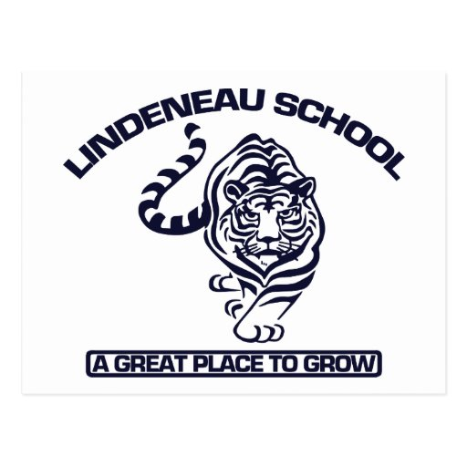 Logotipo del azul de Lindeneau Tarjeta Postal