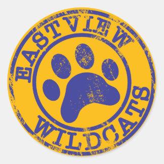 Logotipo del azul del pegatina de los gatos