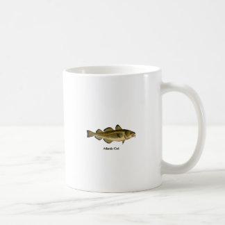 Logotipo del bacalao atlántico taza