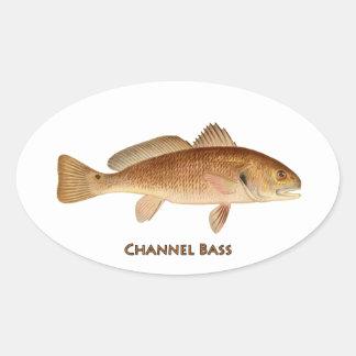 Logotipo del bajo de canal pegatinas de ovaladas