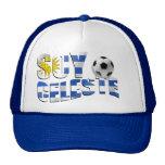 Logotipo del balón de fútbol de Futbol de la bande Gorros Bordados