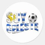Logotipo del balón de fútbol de Futbol de la Pegatina Redonda