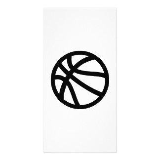 Logotipo del baloncesto tarjetas fotograficas