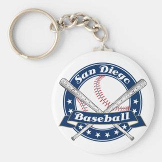 Logotipo del béisbol de San Diego Llavero Redondo Tipo Pin