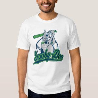 Logotipo del béisbol de Scooby-Doo Remeras