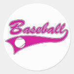 Logotipo del béisbol etiqueta redonda