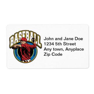 Logotipo del béisbol etiquetas de envío