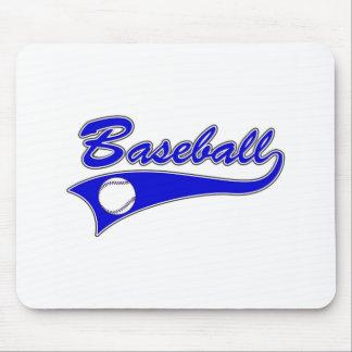 logotipo del béisbol mouse pads