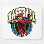 Logotipo del béisbol tapete de ratón