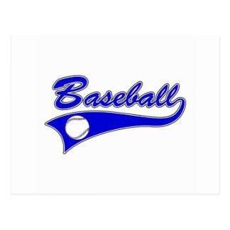 logotipo del béisbol tarjeta postal