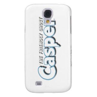 Logotipo del blanco de Casper Carcasa Para Galaxy S4