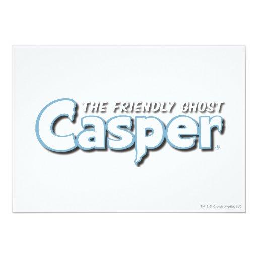 """Logotipo del blanco de Casper Invitación 5"""" X 7"""""""
