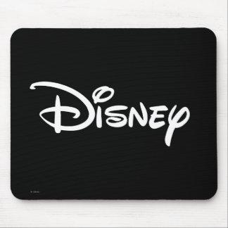 Logotipo del blanco de Disney Alfombrillas De Raton