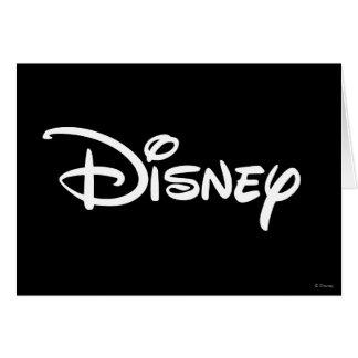 Logotipo del blanco de Disney Tarjeta De Felicitación