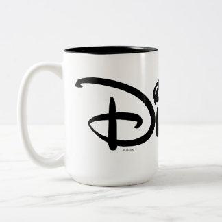 Logotipo del blanco de Disney Taza De Café De Dos Colores