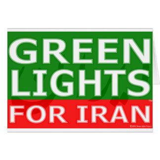 Logotipo del bloque de las luces verdes tarjetas