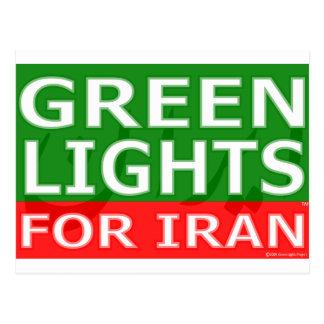 Logotipo del bloque de las luces verdes postal