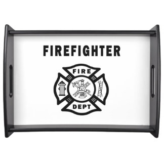 Logotipo del bombero bandejas