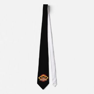 Logotipo del bombero corbata