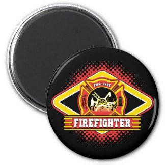 Logotipo del bombero imán redondo 5 cm