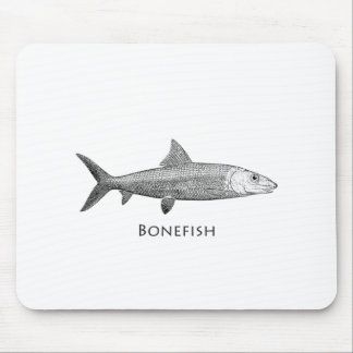 Logotipo del Bonefish Tapete De Ratón