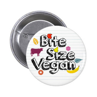 Logotipo del botón del vegano del tamaño de la pin redondo de 2 pulgadas
