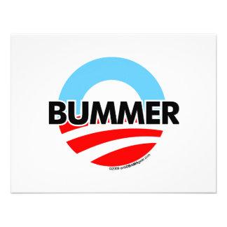 Logotipo del Bummer de Obama O Anuncio Personalizado