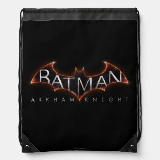Logotipo del caballero de Batman Arkham Mochilas
