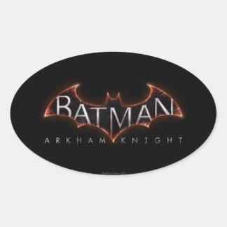 Logotipo del caballero de Batman Arkham Pegatina Ovalada