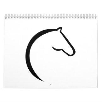 Logotipo del caballo calendario de pared