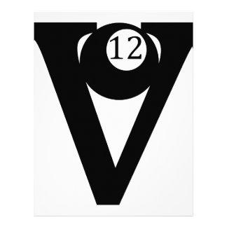 Logotipo del camión V12 Membrete A Diseño