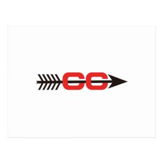 Logotipo del campo a través postal