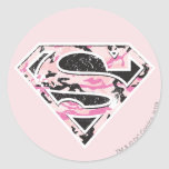 Logotipo del camuflaje de Supergirl Pegatinas Redondas