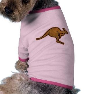 Logotipo del canguro ropa para mascota