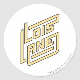 Logotipo del carril de Lois Pegatina Redonda
