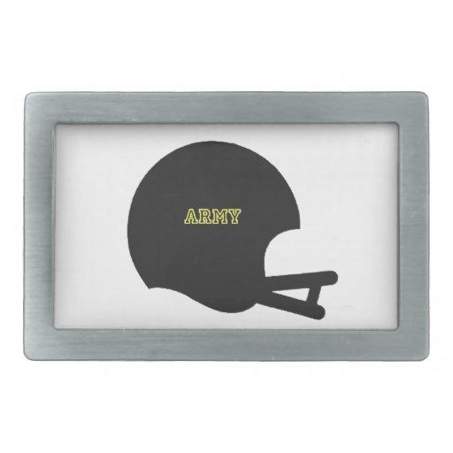 Logotipo del casco de fútbol americano del vintage hebillas cinturon