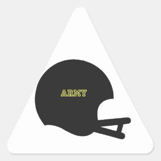 Logotipo del casco de fútbol americano del vintage pegatina triangular