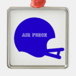 Logotipo del casco del vintage del casco de la fue adorno de navidad