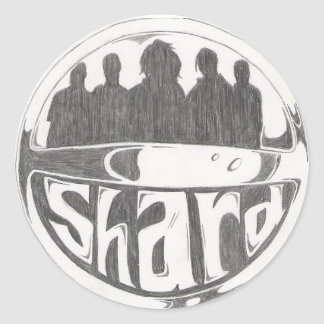 Logotipo del casco pegatina redonda