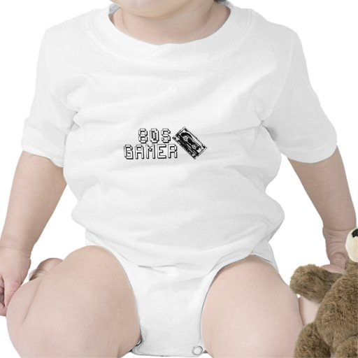 logotipo del casete del videojugador 80s trajes de bebé