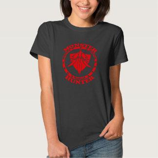 Logotipo del cazador del monstruo (rojo/frente) playeras